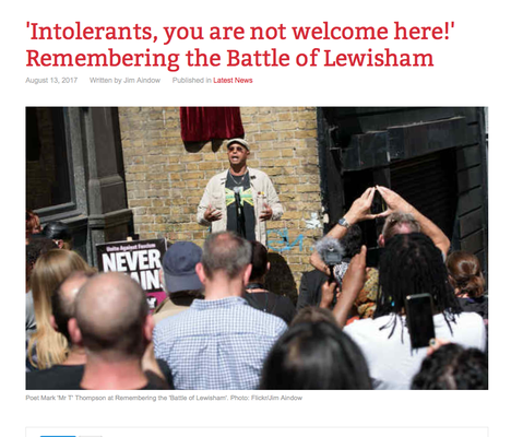 Counterfire: Intolerants, you are not welcome here ! 13.8.17