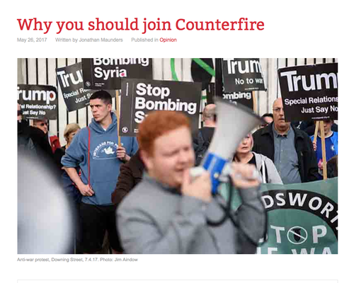 """Counterfire: """"Why you should join Counterfire 26.5.17"""