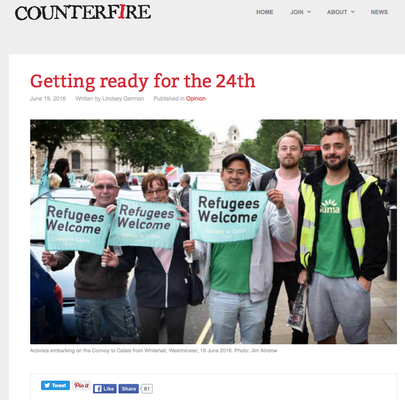 Counterfire 'Getting ready for the 24th' 19.6.16