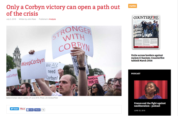 Counterfire: Only a Corbyn victory can open a path out of the crisis. 3.7.16