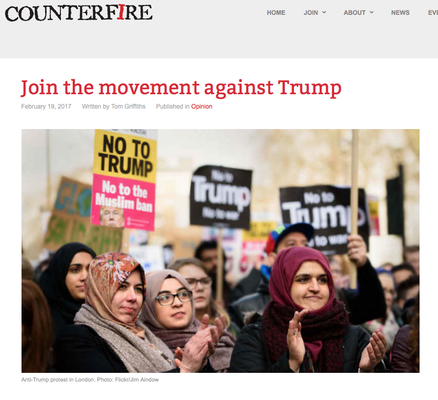 Counterfire: Join the movement against Trump