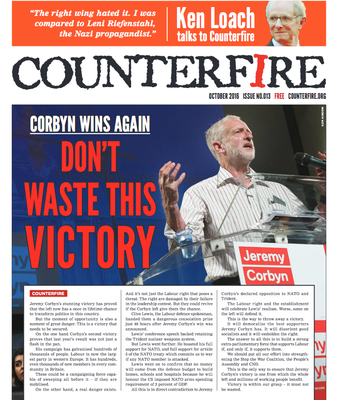 Counterfire : free sheet Oct 2016