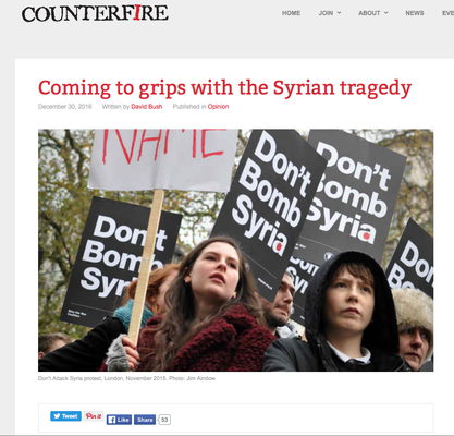 Counterfire: Coming to grips with the Syrian tragedy 30.12.16
