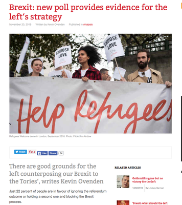 Counterfire: Brexit: new poll provides evidence for the left's strategy, 20.11.16