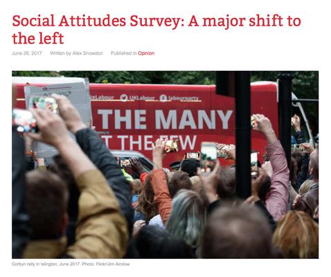 Counterfire: Social Attitudes Survey: A major shift to the left. 29.6.17