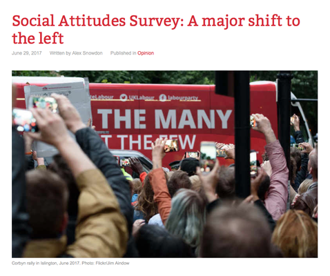 Counterfire: Social Attitudes Survey: A major shift to the left. 29.6.17