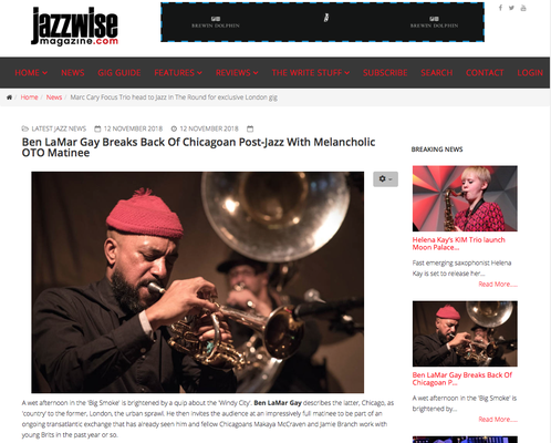 Jazzwise 12.11.18 Ben LaMar Gay Breaks Back Of Chicagoan Post Jazz Meloncoly