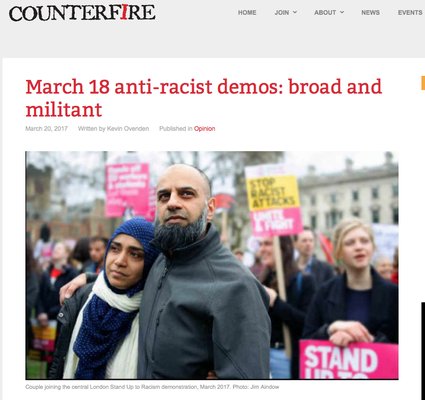 Counterfire: March 18 anti-racist demos: broad and militant. 20.3.17