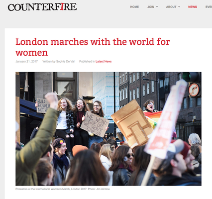 Counterfire: London marches with the world for women 21.1.17