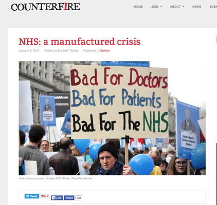 Counterfire: NHS: a manufactured crisis 8.12.16