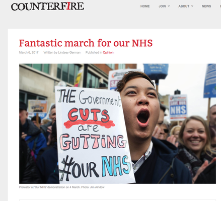 Counterfire: Fantastic march for NHS 6.3.17