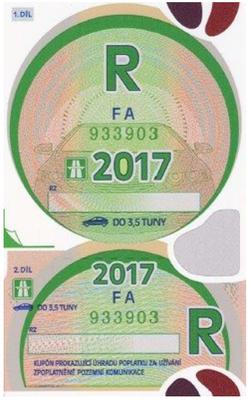Jahres Vignette 2017 Tschechien