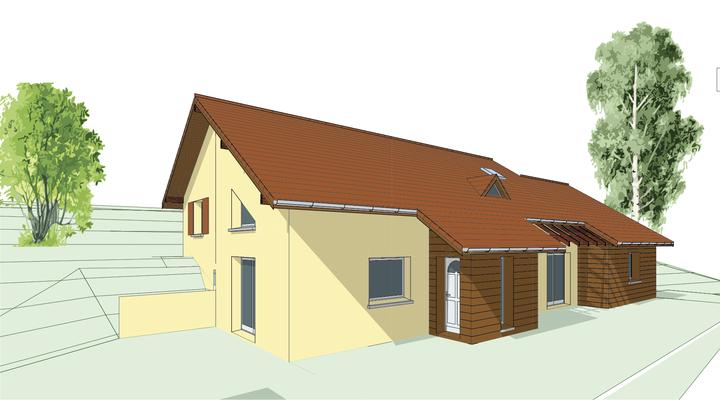 Agrandissement d'une maison située à La Terrasse en Isère