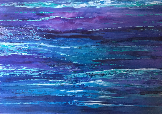 Waterline I, 2018, Acryl/Tusche auf Leinwand, 40x60 cm