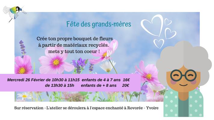 atelier enfant, atelier cadeau fête des grands-mères, bouquet de fleurs, recyclage boîte à oeufs, , Sciez, thonon, leman, chablais