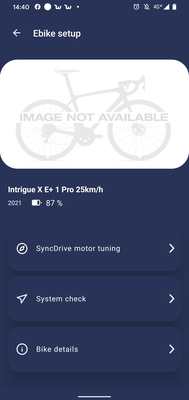 e-Bike Setup in der Giant Ride Control App