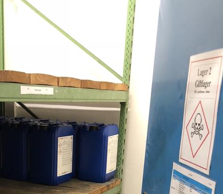 Lagerraum Gefahrstoffe