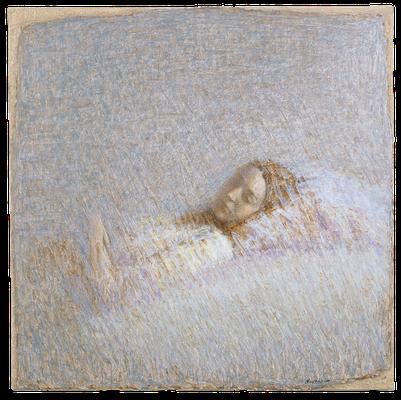 『まどろむAméry-2』(2008年/120x120cm/油彩)