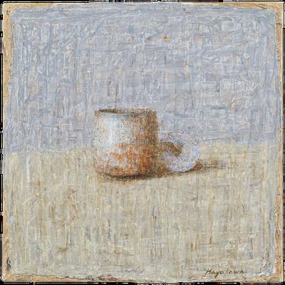 『陶器と貝』(2009年/40x40cm/油彩)