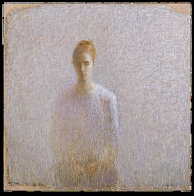『女性の像–2(Clémence)』(2008年/130x130cm/油彩)