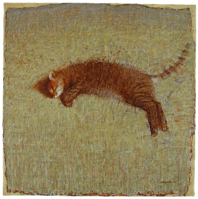 『眠るtoto–2』(2006年/80x80cm/油彩)