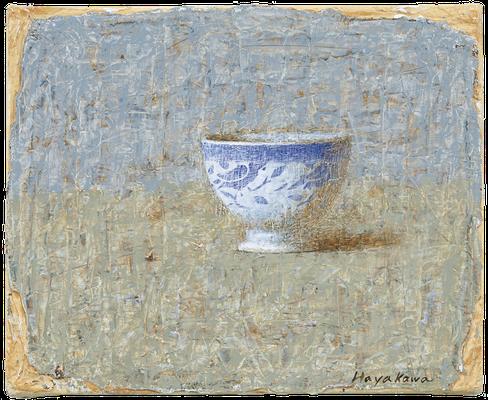 『青い小鳥の碗』(2009年/22x27cm/油彩)