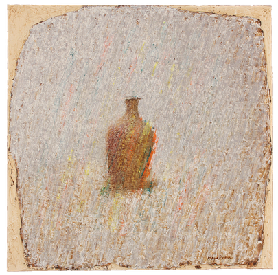 『蜂須賀さんの壷-2』(2014年/60x60cm/油彩)
