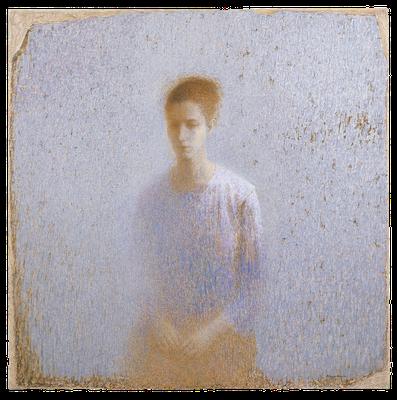 『女性の像–1(Clémence)』(2007年/130x130cm/油彩)