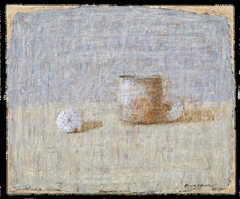 『陶器と二つの貝』(2009年/33x46cm/油彩)