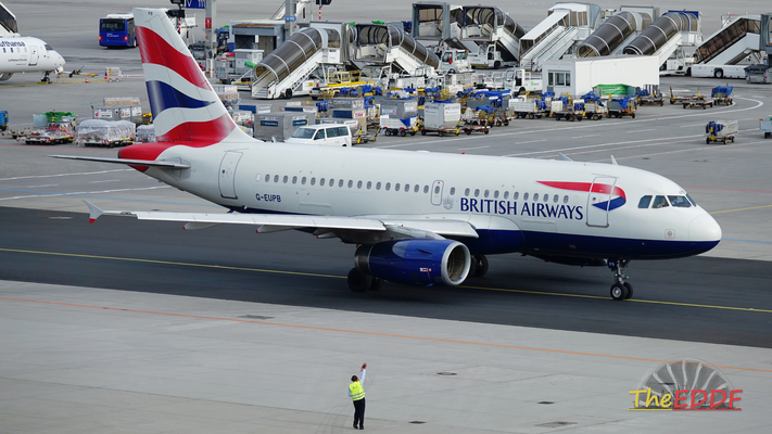 British Airways Airbus A319-100 G-EUPB