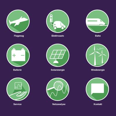 Icons, Erneuerbare Energie, Unternehmen, Broschürengestaltung, © Studio Käfig