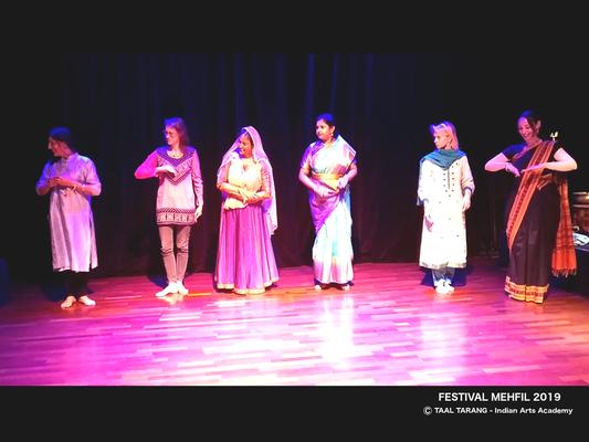 Les élèves de Taal Tarang - Indian Arts Academy