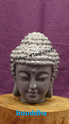 Bouddha béton gris