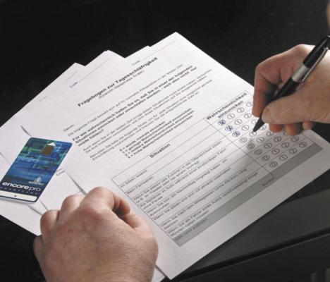 Selbstkontrolle - Fragebogen zur Tagesschläfrigkeit - unverbindlich unseren Fragenbogen ausfüllen und uns zusenden