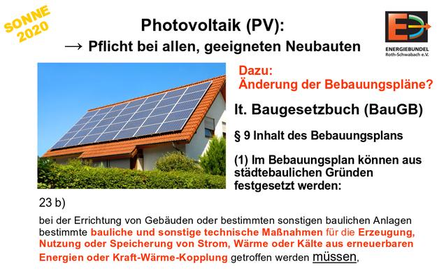 """""""Solare Baupflicht"""" ist rechtlich möglich ... wenn man will"""