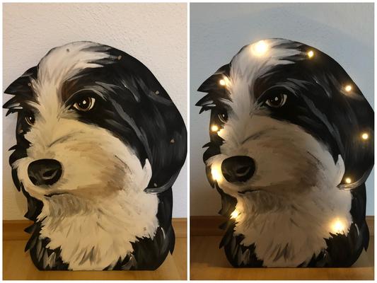 Potraitlampe Hund