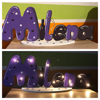 Lampe mit Namen