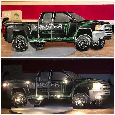 Monster Truck Lampe