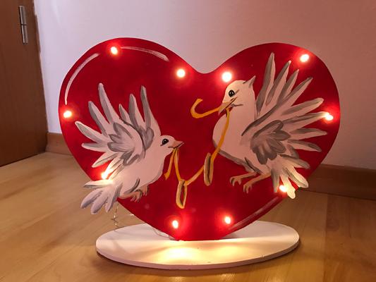 Lampe Hochzeit Vögel