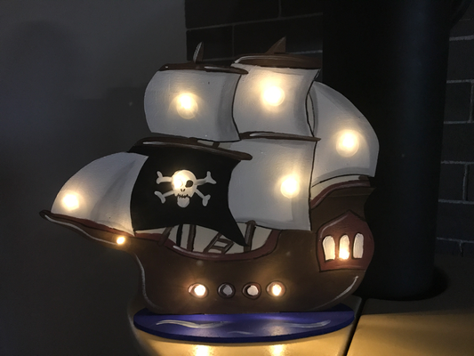 Lampe Piratenschiff