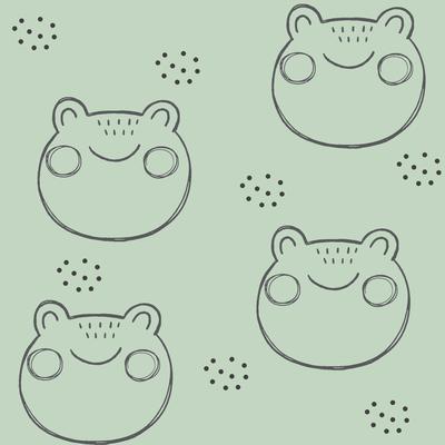 Foxlove Tierköpfe Frosch Grün