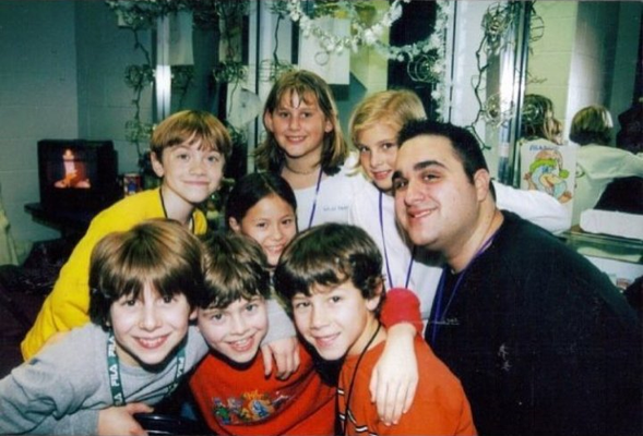 Nicholas, Patrick Stogner, Gerard Canonico and other kids from the musical. Bless Gerard for this awesome picture!