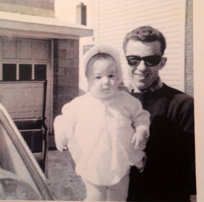 Baby Denise with her father, Jerry Miller.