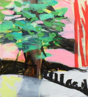 Mischwald_Sommerbaum_2016_Acryl auf Leinwand_110 x 120 cm