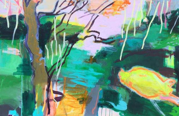 Mischwald_Mischwald_Schichten 2__2019_Acryl auf Leinwand_120 x 180 cm