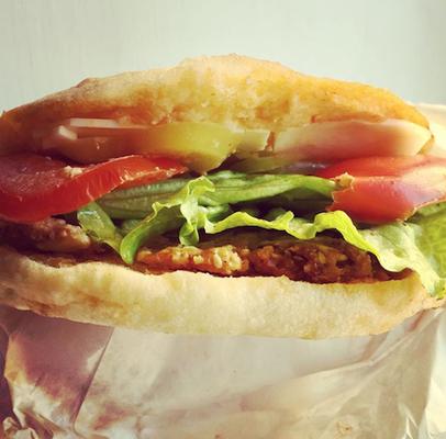 burger at fast food vege fino zagreb croatia