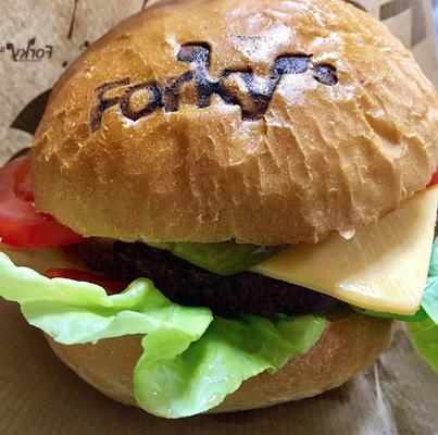 burger at forky's brno czech rebublic