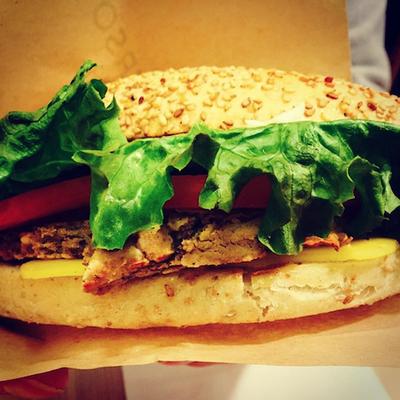 burger at universo vegano parma italy