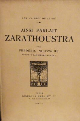 Citation Nietzsche Ainsi Parlait Zarathoustra : Nietzsche fabien trécourt u journaliste