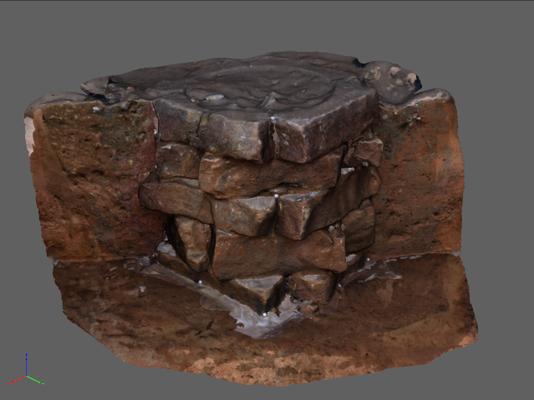 3D-Visualisierung eines Brunnens aus Neunkirchen am Brand, Lkr. FO